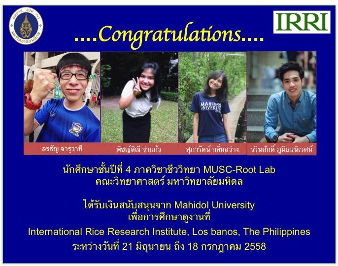 IRRI congrats